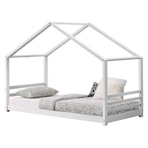 [en.casa] Kinderbett mit Lattenrost und Gitter